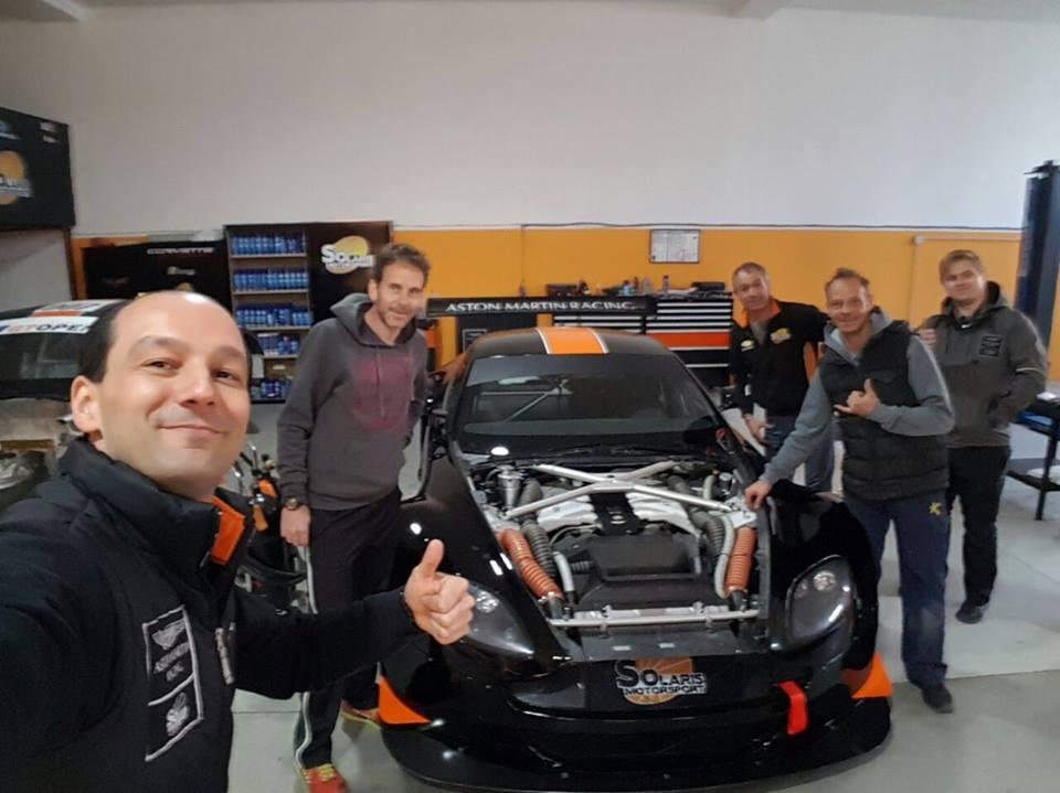 #WeDidIt The Solaris Motorsport Aston Martin on the way to Estoril