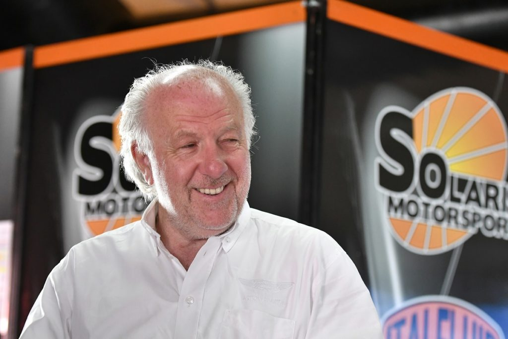 David Richards special guest at Solaris Motorsport's box in Imola