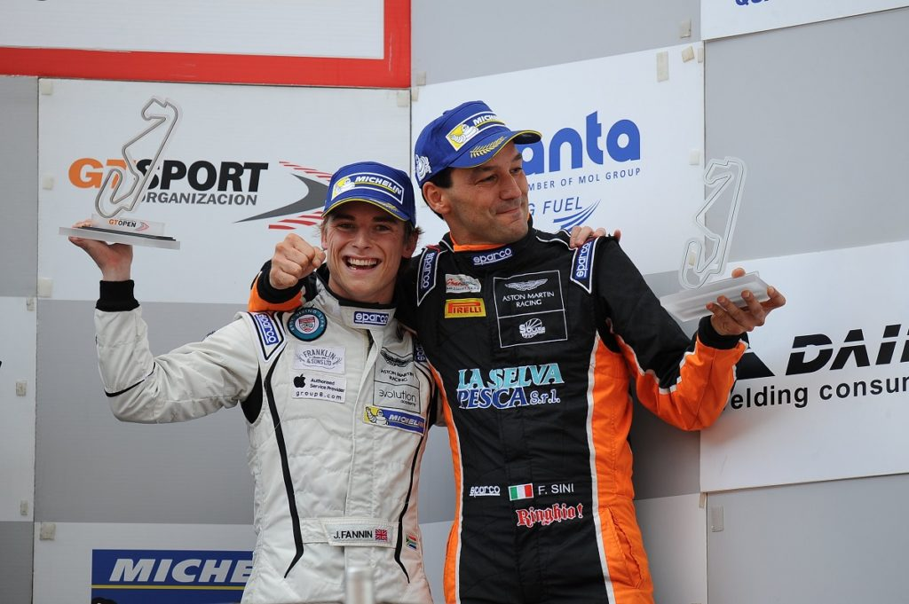 Solaris Motorsport on the podium at Barcelona GT Open finale